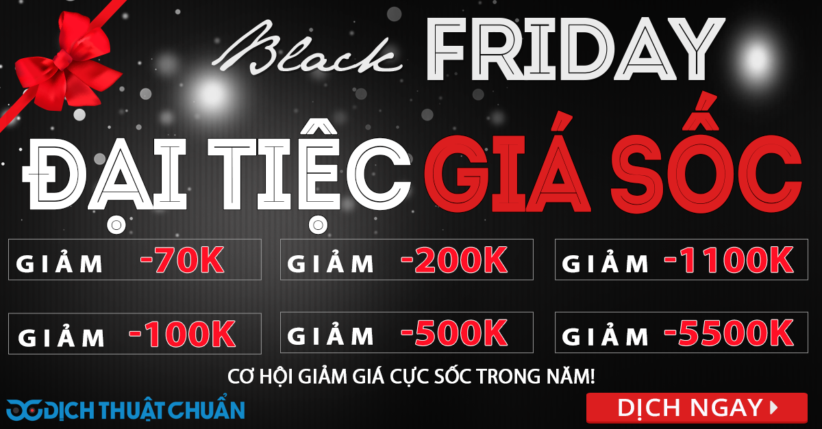 BLACK FRIDAY - DAI TIEC GIA SOC